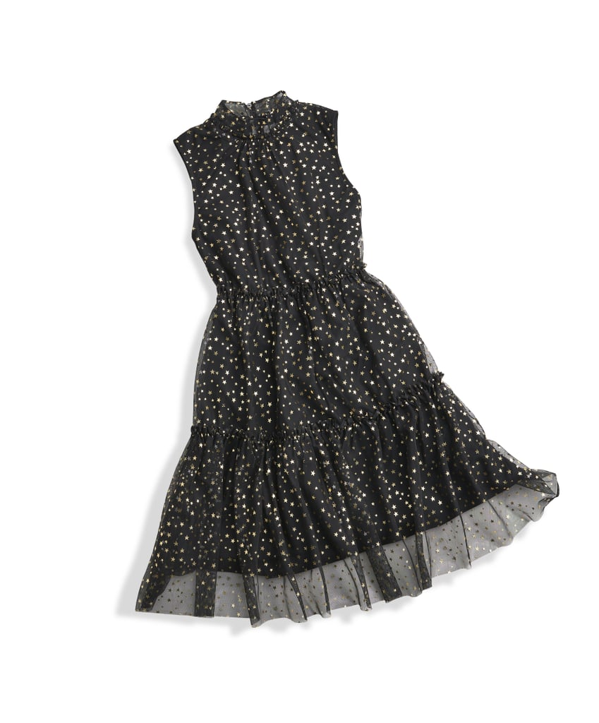 Metallic Tiered Party Dress