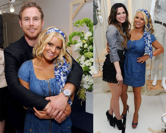 Jessica Simpson With Eric Johnson at the Launch of Her New Collection