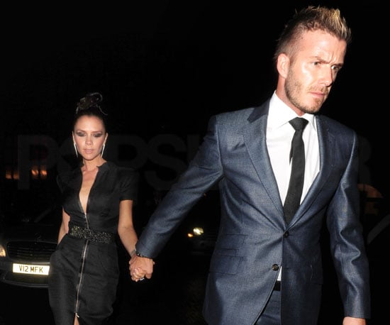 Slide Photo of David and Victoria Beckham in London
