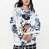 Mickey Mouse Tie-Dye Crew Neck Sweatshirt