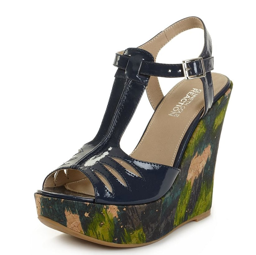 How cute is the floral-meets-graphic print wedge detail? Kenneth Cole Reaction Real Deal Wedge Sandals ($75)