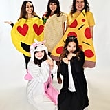 Smiling Face With Heart-Shaped Eyes, Taco, Pizza, Unicorn, and Cat Emoji