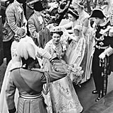 Queen Elizabeth II on her coronation day in 1953.