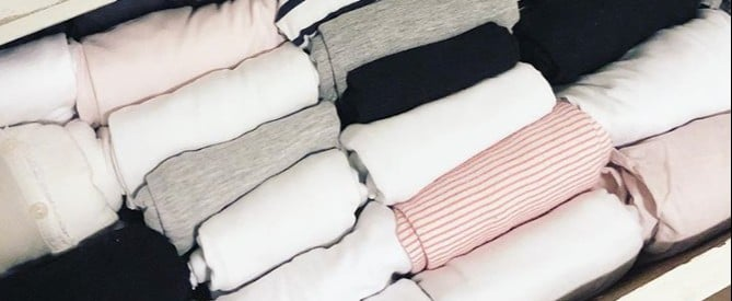 Photos of Marie Kondo's Folding Method