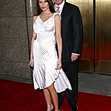 Melania wore a satin pleated asymmetrical dress to the 2002 VH1 Vogue Fashion Awards.