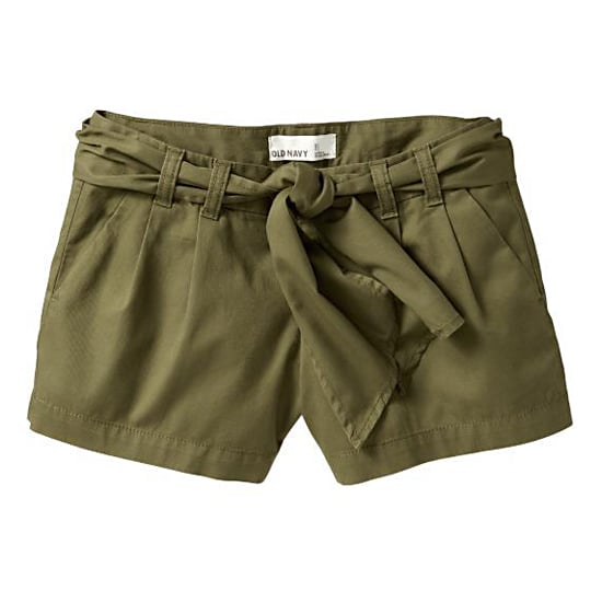 """Old Navy Tie-Belt Shorts, $25  Pair with:  <iframe src=""""http://widget.shopstyle.com/widget?pid=uid5121-1693761-41&look=3445692&width=3&height=3&layouttype=0&border=0&footer=0"""" frameborder=""""0"""" height=""""244"""" scrolling=""""no"""" width=""""286""""></iframe>"""