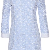 Romwe Lace Embellished Long-Sleeved Blue Dress ($37)