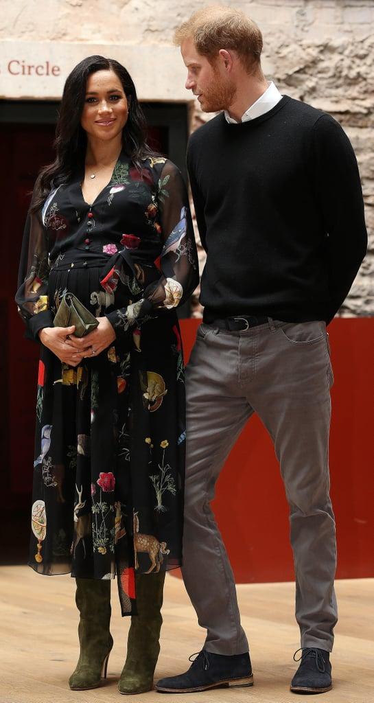 Meghan Markle Oscar de la Renta Animal Dress