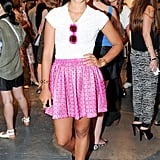 Hannah Bronfman was ready for Summer with hot-pink accents at the CFDA/Vogue Fashion Fund announcement.