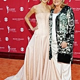 Taylor walked the red carpet with her mom at the Academy of Country Music Awards in May 2007.