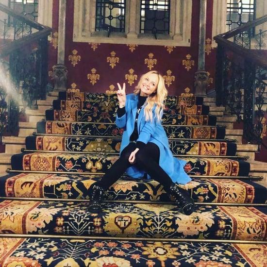 Emma Bunton Instagram Post of Spice Girls Music Video Stairs