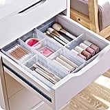 Chris.W Desk Drawer Organizer Tray With Adjustable Dividers