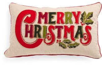 Merry Christmas Pillow ($25)