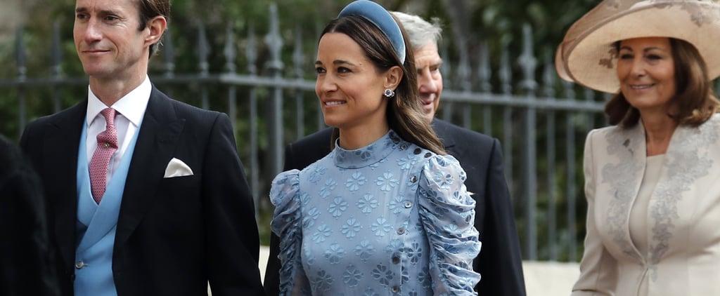 Pippa Middleton Blue Dress at Lady Gabriella Windsor Wedding