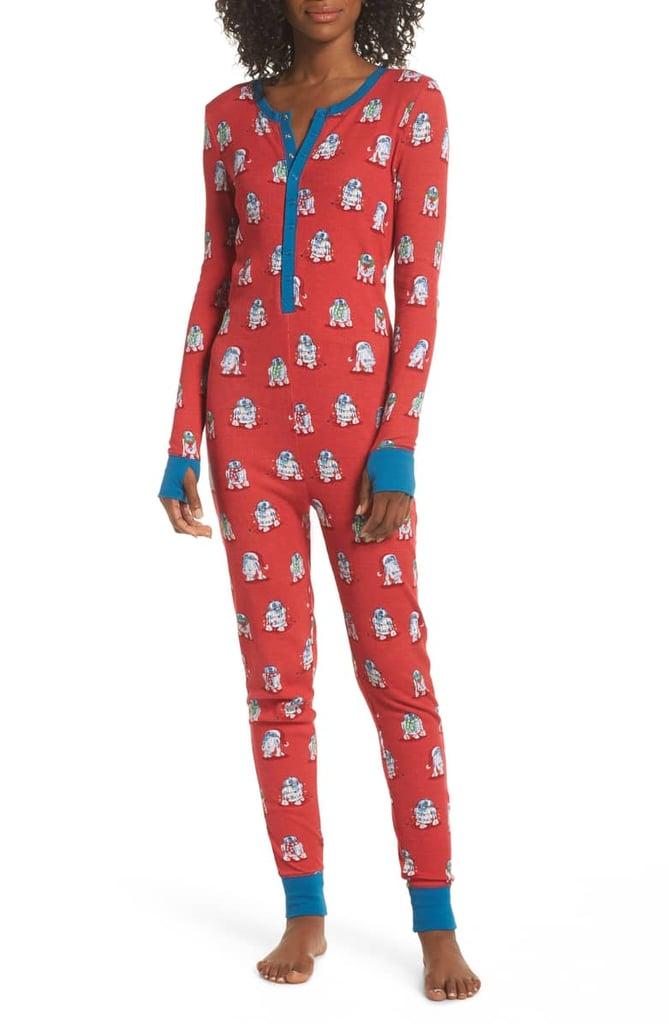 Munki Munki x Star Wars Christmas R2-D2 One-Piece Pajamas