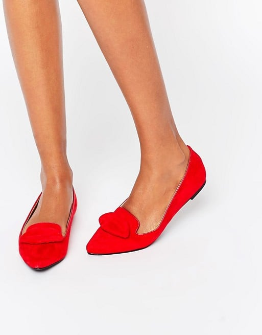 ASOS London Rebel 3D Lips Flat Ballerinas ($41)