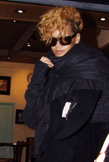 Rihanna spotted at The Nice Airport