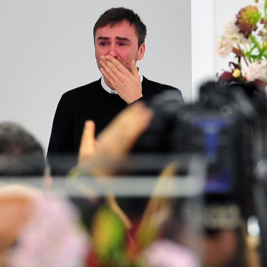 Raf Simons Crying at His Final Jil Sander Show
