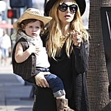 Skyler Berman went for a Wild West Halloween costume with mom Rachel Zoe.