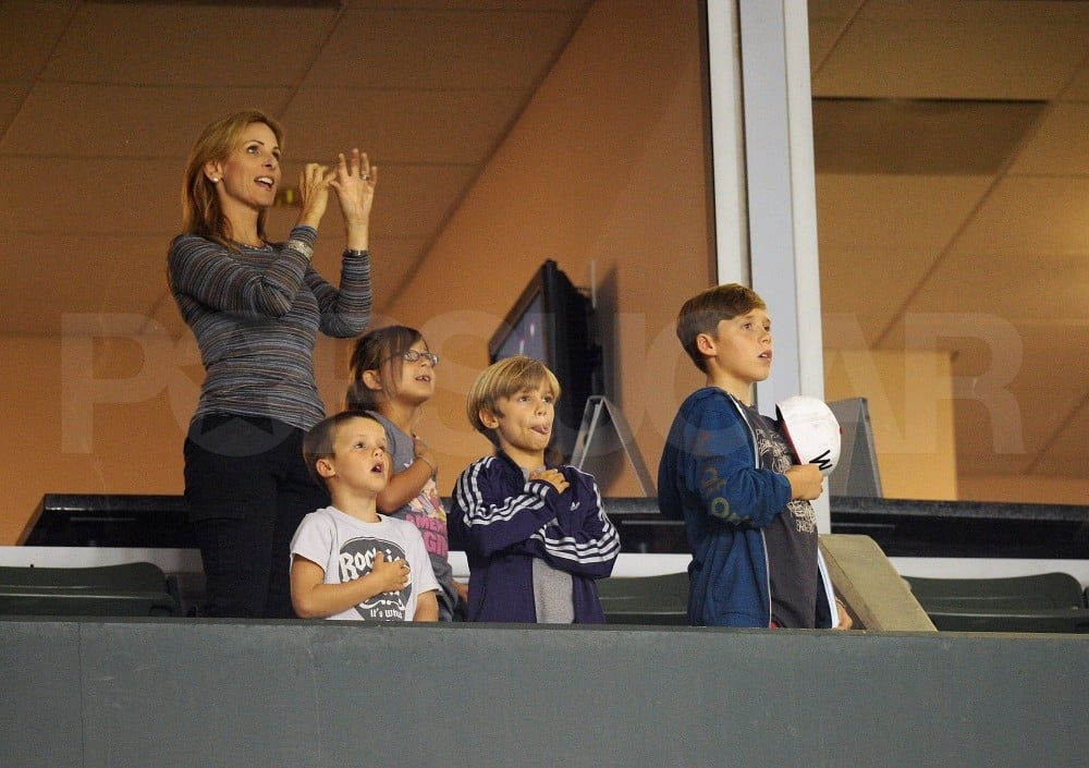 Cruz Beckham, Brooklyn Beckham, and Romeo Beckham were patriotic.
