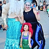 Ariel, King Triton, and Ursula