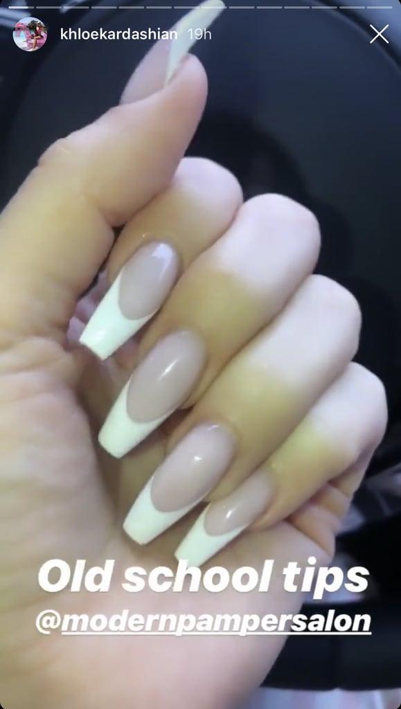 Khloe Kardashian's French Manicure 2019