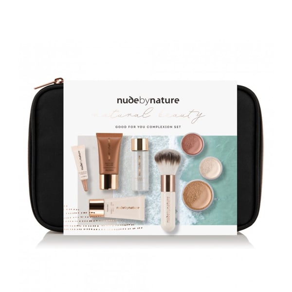 Nude By Nature Natural Beauty Good for You Complexion Collection ($25) This beauty package offers the right makeup products to create a fresh-faced complexion and for a little something extra, it also contains a gentle make-up remover.