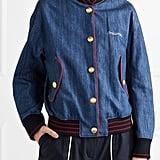 Miu Miu Embroidered Denim Bomber Jacket