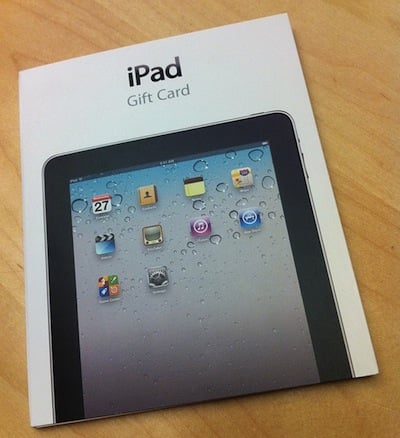 Apple iPad Gift Cards
