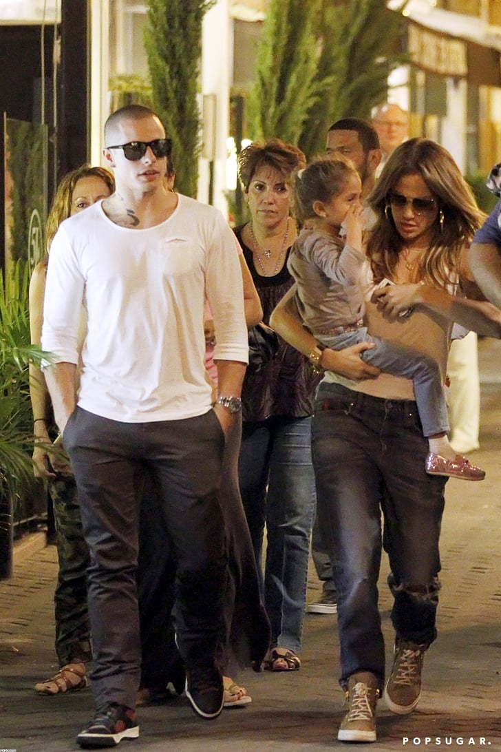 J Lo and Casper Smart went to dinner with Max and Emme in Spain.