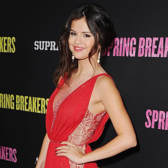 Selena Gomez In Red Dress For LA Spring Breakers Premiere