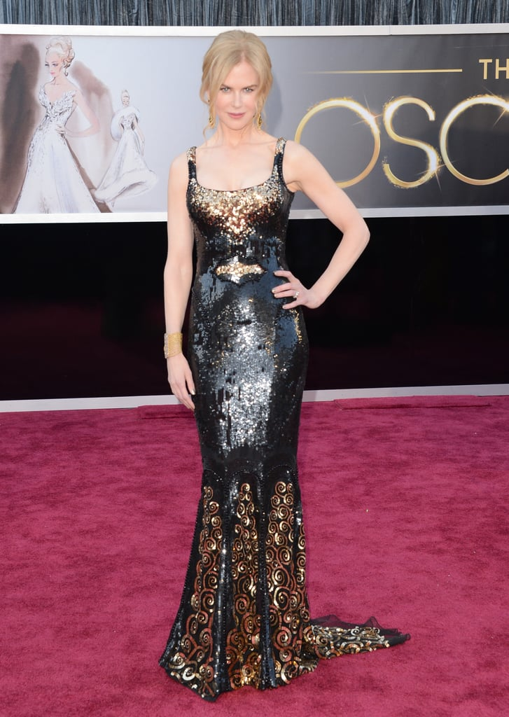 Nicole Kidman on the red carpet at the Oscars 2013.