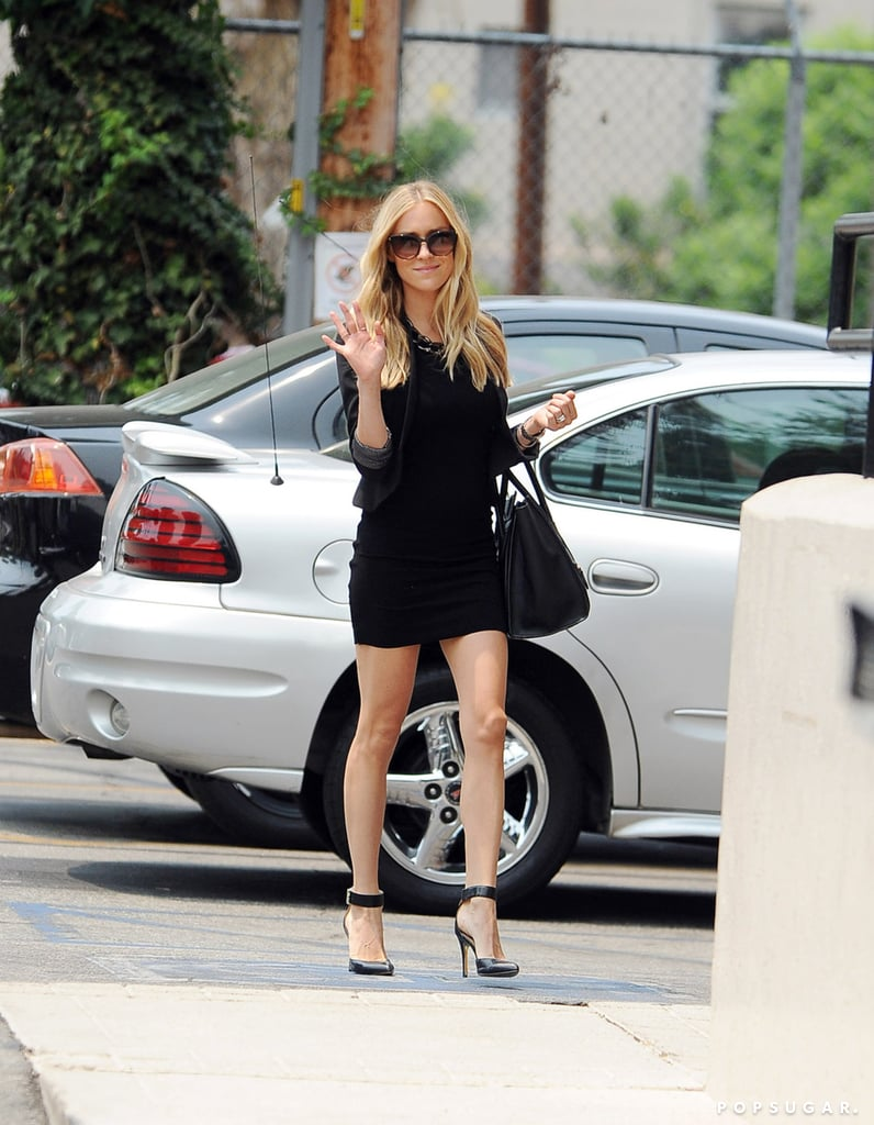 Kristin Cavallari waved to cameras while out in LA on Tuesday.