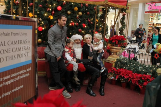 Pictures of Gwen Stefani, Gavin Rossdale, Kingston Rossdale, and Zuma Rossdale Visiting Santa