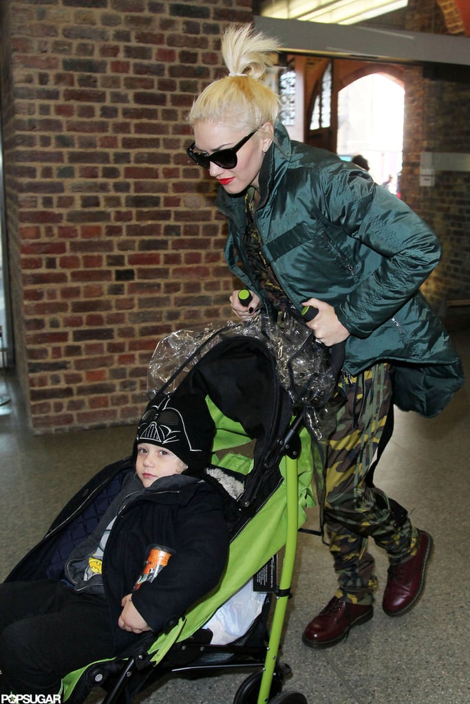 Gwen Stefani cruised with Zuma Rossdale on their way to King's Cross St. Pancras station to catch the Eurostar.