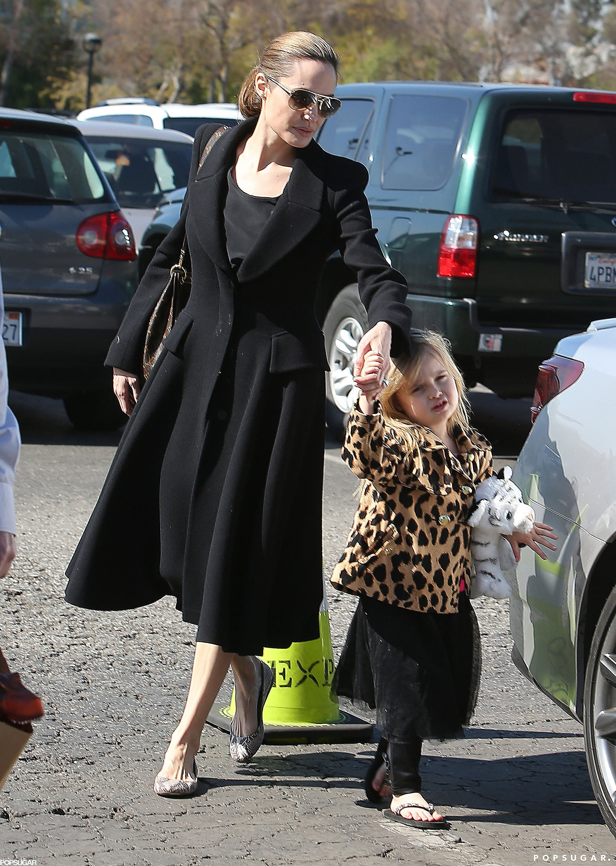 In February, Angelina Jolie held Vivienne Jolie-Pitt's hand for a Valentine's Day date to the Natural History Museum in LA.