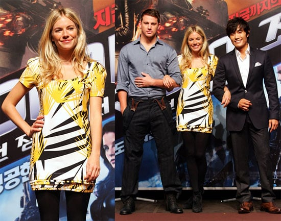 Photos of Sienna Miller and Channing Tatum at GI Joe Premiere