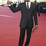 Jamie Foxx stopped on the red carpet during the Deauville American Film Festival.