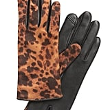 Animal Print Leather Gloves
