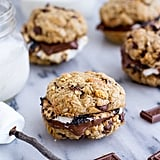 Oatmeal Chocolate Chip Graham Cracker Cookie S'mores