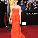 Fans clapped for Michelle Williams as she arrived on the red carpet.