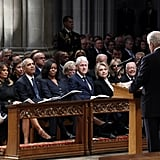 Photos of the Living Former Presidents and First Ladies at the Funeral