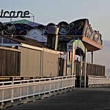 The boardwalk in Ocean City, MD, is clear as the mayor ordered a mandatory evacuation ahead of the expected storms this weekend.