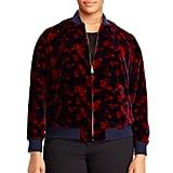 Lauren Ralph Lauren Plus Floral Velvet Bomber Jacket