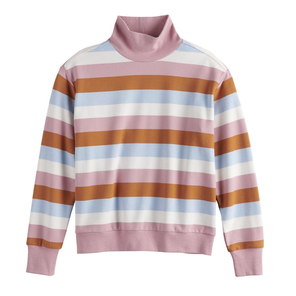 POPSUGAR Mock Neck Pullover