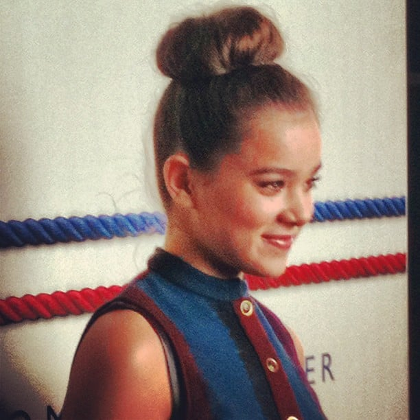 We loved Hailee Steinfeld's classic bun at the Tommy Hilfiger show.