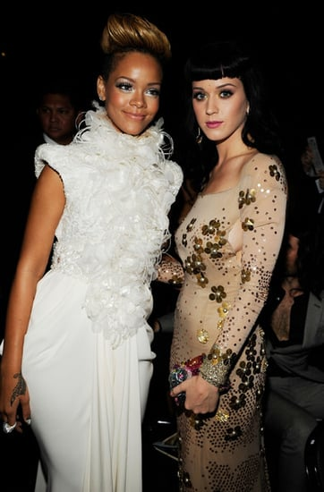 Katy Perry and Rihanna at the 52nd Annual Grammy Awards