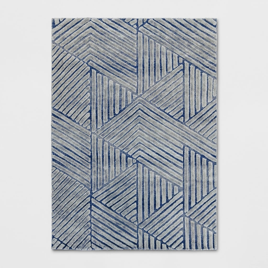 Tufted Viscose/Wool Geometric Area Rug