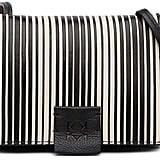 Christopher Kon Striped Combo Leather Micro Crossbody Bag