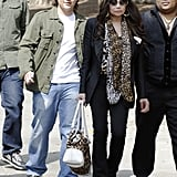 Prince and La Toya Jackson visited the set of 90210 in LA on Monday.